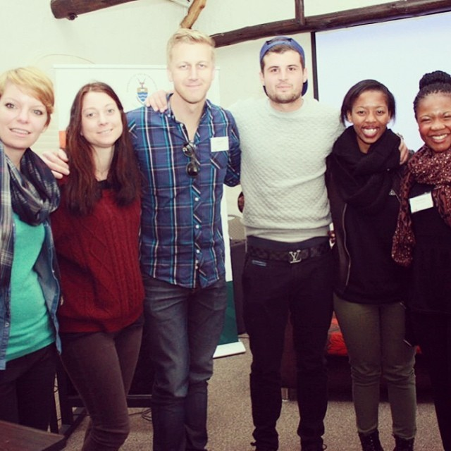 #teamvuvu agreed to a photo with this guy -----> #GarethCliff. #Famous! #jhbradiodays