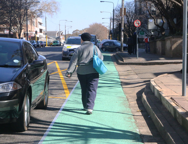 Without signage, people have been using it as a pedestrian lane. Photo: Roxanne Joseph