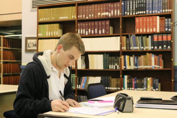 Early Preparation: First week of the second semester and already  Michael Fellington is studying. Photo: Nqobile Dludla
