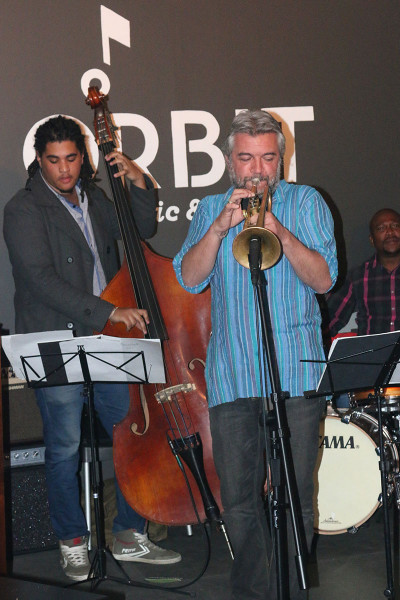 TRUMPET KING: Marcus Wyatt performs at The Orbit, leaving his audience in awe.                Photo: Lutho Mtongana