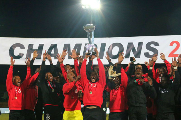 The Champions: A victorious game leaves the Celtics players jumping for joy.  Photo: Nqobile Dludla