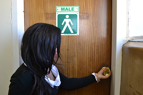 OCCUPIED: Wits toilets to be transformed for the safety of the transgendered.                                                                                                  Photo: Percy Matshoba