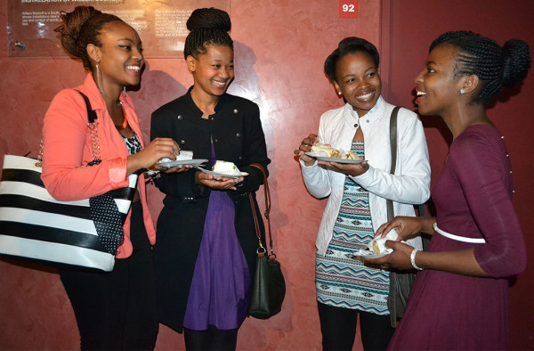 TEA TIME: Students celebrated Women's Day at the Accounting Student Council's  High Tea, today at the Wits Origins Centre.  From left:  Tebogo Selabe, 3rd year BAccSci, Suzan Lesame, 3rd year BCom Accounting,  Moleboheng Sefume, 3rd year BAccSci and Tinyiko Mareane, 3rd year BEconSci Photo: Lameez Omarjee