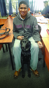 BLIND COURAGE: Jermaine and his best friend Ygor share a friendship more than convenience. Photo: Provided