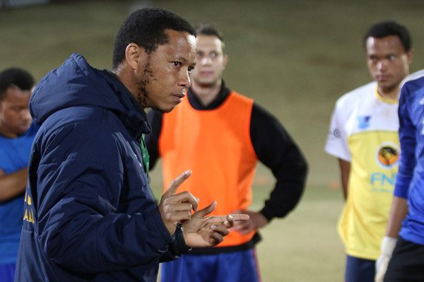 SETTING THE BAR HIGH: In the top four, Wits FC head coach, Karabo Mogudi is certain that his team will qualify for the USSA Gauetng Football League semi-finals.       Photo: Nqobile Dludla
