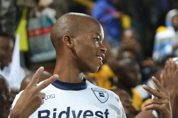HAPPY PEOPLE: A small crowd of around 20 Bidvest Wits fans watched the game at Lucas Moripe Stadium. Photo: Nqobile Dludla