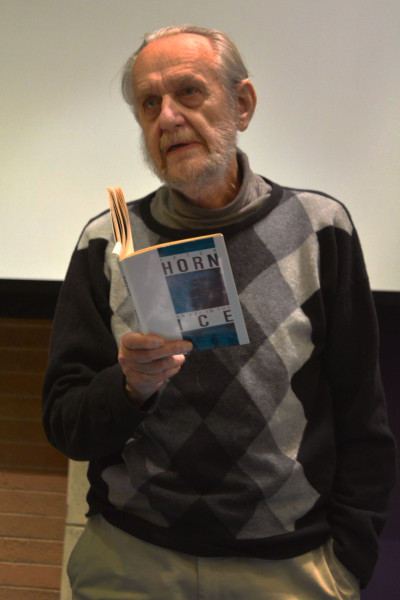 POETRY READ: World renowned poet Peter Horn reads an extract of one his poems to a captivated audience. Photo: Zelmarie Goosen