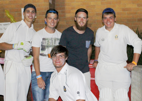 OUR BOYS: Members of the Wits Cricket Club taking a breather to enjoy some team time together.                                                                                                                                                                             Photo: Ilanit Chernick