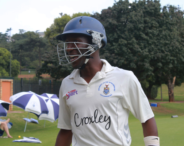 THE PRESSURE: Nono Pongolo, captain for first team cricket after being taken out by VUT.