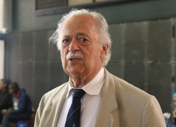 LEGACY: Advocate George Bizos, attended the Wits SRC's One Million, One Month launch at the Wits Great Hall. The Human Rights Lawyer is best known for representing Walter Sisulu and Nelson Mandela in the Rivonia Trial. Photo: Tendai Dube