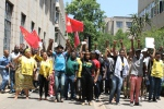 VIVA: Wits students and staff march together in solidarity with students not granted NSFAS. Photo: Ilanit Chernick