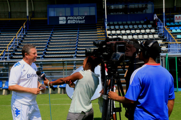 THE TIME IS NOW:Bidvest Wits coach Gavin Hunt during an interview with ANN7 and eNews ahead of their first leg CAF Confederations Cup clash with the Royal Leopards (Swaziland) on February 14. Photo: Nqobile Dludla