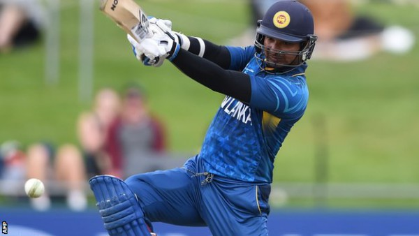 Kumar Sangakkara scored his 4th consecutive century in the World Cup in a match against Australia. Photo: