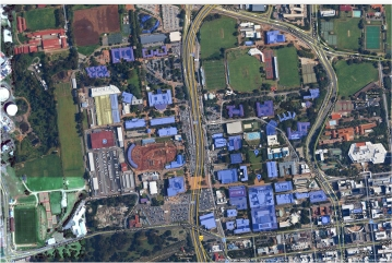A map showing the Wi-Fi hotspots on campus. Photo: Wits University Knowledge and Information Management