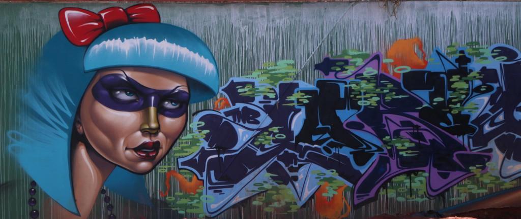 STREET ART: Graffiti on the corner of Henry and De Korte street, Braamfontein done by  graffiti artist Rasty and  crew. Photo: Samantha Camara