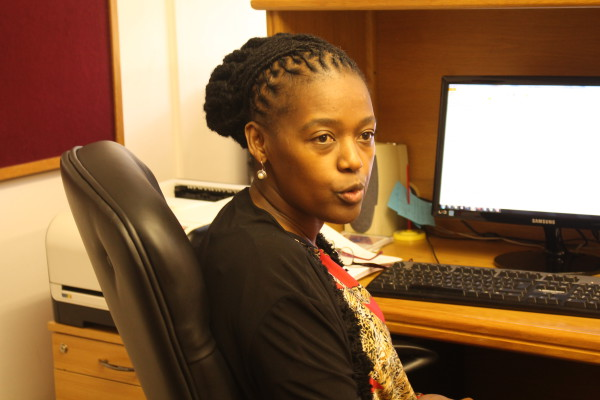 DOCTORS ORDERS: Dean of Students Dr. Pamela Dube discussing the importance of  female academics. Photo: Tendai Dube