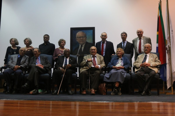 BRAM FISCHER: Panel at the  Colloquium at the Wits University, including Lorraine Chaskalson, Ruth Rice,  Max Sisulu, Ilse Wilson, Sir Nicholas Stadlen, Professor Stephan Clingman, Dr Sholto Cross,  Ahmed Kathrada, Lord Joel Joffe, Andrew Mlangeni, Denis Goldberg, Lesley Schermbrucker, George Bizos, Mosie Moolla not pictured here) and Yvonne Malan not pictured here). Photo: Tanisha Heiberg