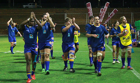 LETS MAKE A CLAP: Wits boys share their victory with the crowd as they walk off the field after a stunning game of multiple tries.
