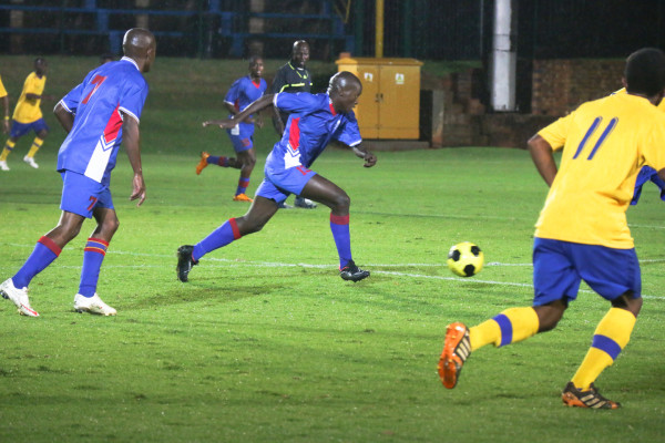 CHALLENGE: TUT player Nkosenhle Ntshangase on the attack.