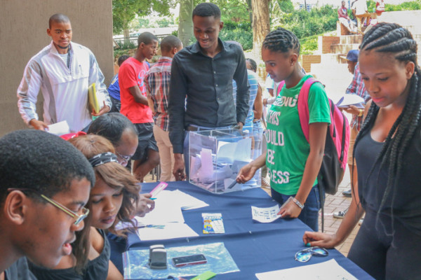 Students at the School of Accountancy casting their vote for the Accounting Student Council Photo: Riante Naidoo