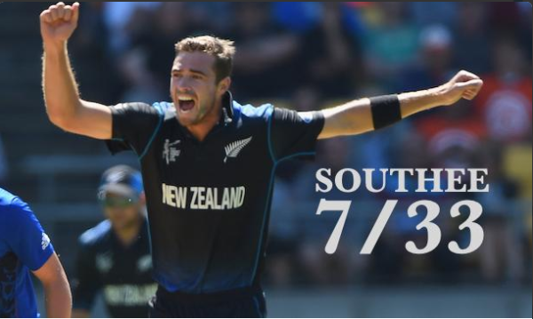 Southee picked up 7 wickets in a match against England. Photo: morningringer.com
