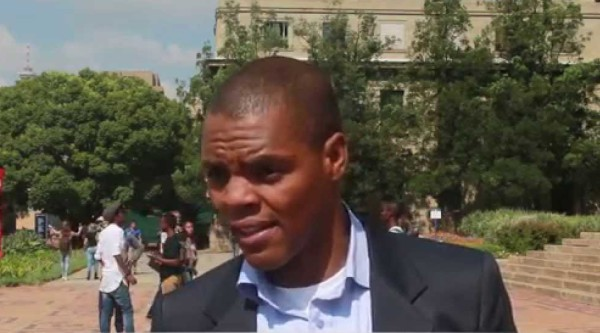 SRC president, Mcebo Dlamini, on Wits Campus outside the Great Hall. Photos: Stock Images