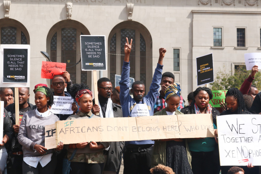 WE ARE AFRICA: Protesters from different backgrounds gather at Beyers Naude Square in complete solidarity with foreign nationals who have suffered. Photo: Rafieka Williams