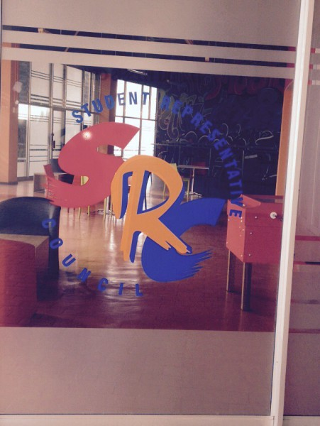 GLASS HOUSES: Frat House on the West Campus with the SRC logo. Photo: Masego Panyane