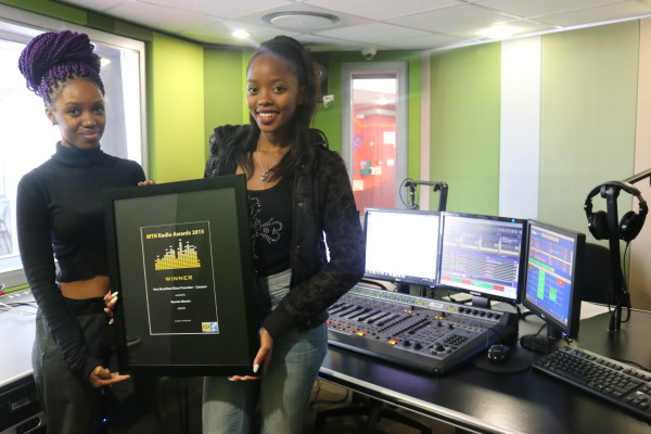 HEAR IT, FEEL IT, LIVE IT: MTN Radio Award winners Felicity Mdhuli and Mpumi Mlambo. Photo: Michelle Gumede