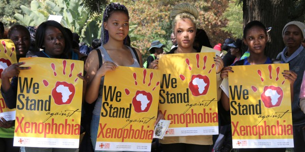 AGAINST XENOPHOBIA: Wits students protest against xenophobia at the 'Peoples march' on Thursday. Photo: Reuven Blignault