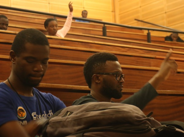 International students voiced their concerns at yesterday's meetingand suggested improvements Wits can make. Photo: Riante Naidoo