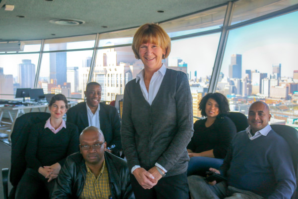 The Conversation Africa's editorial team comprises of Caroline Southey and her Photo: Riante Naidoo.