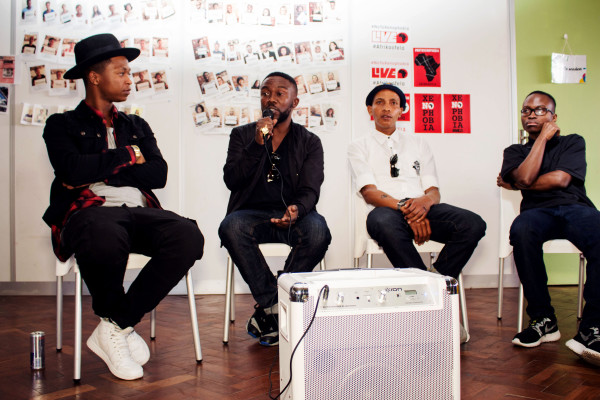 EMPOWERING THE YOUTH: Speakers Jamal Nxedlana, Wandile Zondo & Khaya Bhubhesi speak on the future of fashion in South Africa.