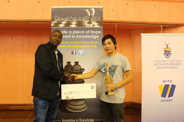 WINNER: Matt Pon was among the winners at the Wits Blitz Tournament. Photo: Litaletu Zidepa