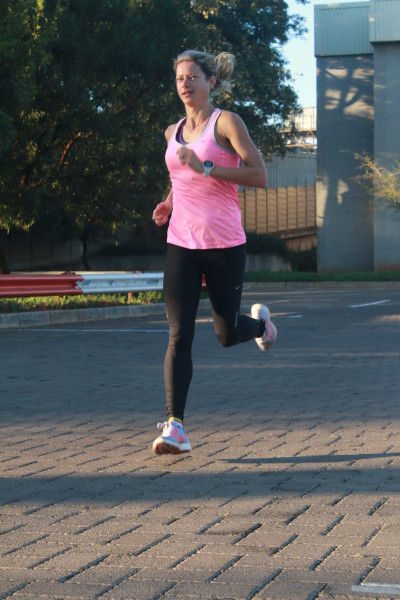 Caroline Wostmann hopes her training will pay off when she takes to the road to run her fifth Comrades next week Sunday. Photo: Riante Naidoo.