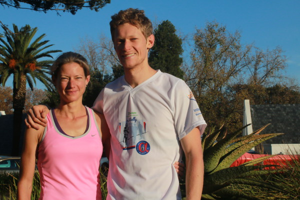 Caroline and her brother Christopher Cherry, who will be running his first Comrades this year. Photo: Riante Naidoo.