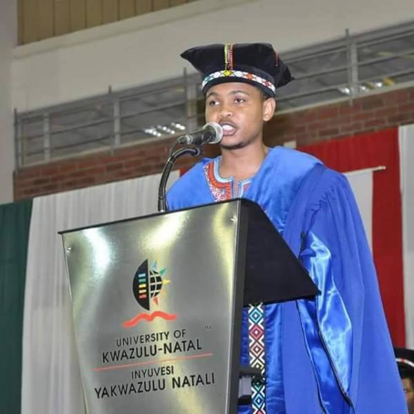 Dithobe Mosana, UKZN's SRC president. Photo: Facebook.
