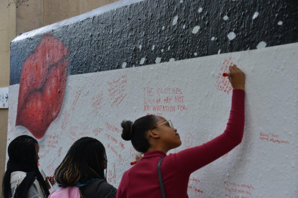 Witsies wrote message of encouragement and support for sexual violence victims. Photo: Provided