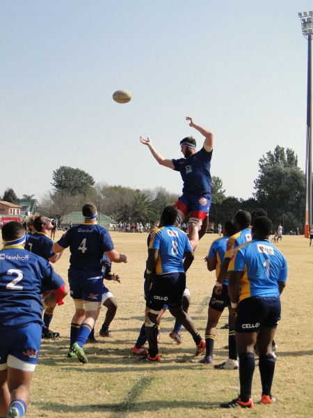 Wits rugby team competing in the 2015 inter-varsity tournament organised by University Sports South Africa (USSA). Photo: Provided