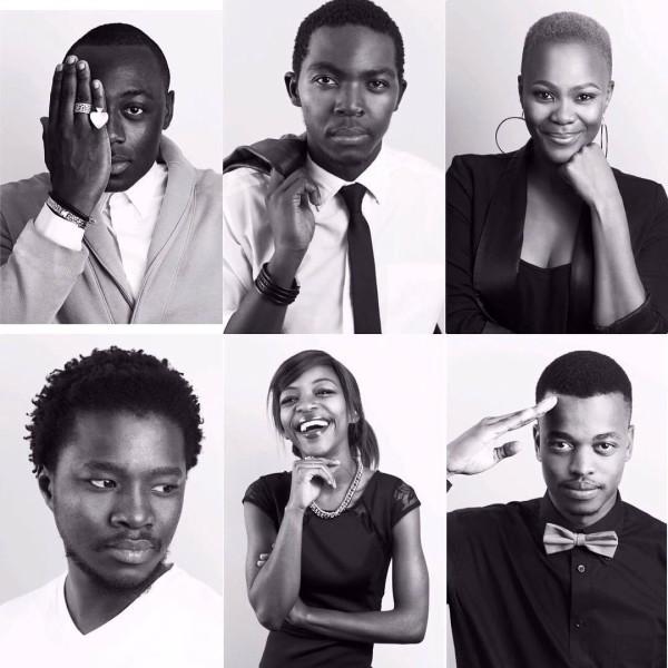 "Winning cast: Richard Lukunku, Emmanuel Nkosinathi Gweva,Zikhona Sodlaka, Thato Dhladla, Busisiwe Mtshali and Mpho ""Popps"" Modikoane"