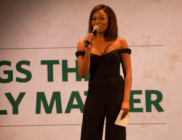 Bonang Matheba shares here journey to success with young woman at Alexandra theatre.