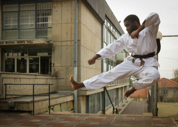 KARATE KID: Simba Tevera is one of five Witsies featured on the Mail & Guardian Top 200 Young South Africans list. Tevera hopes his nomination will allow him to impact and inspire the youth. Photo: Zimasa Mpemnyama