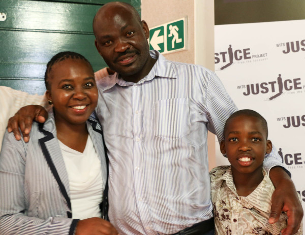 TOGETHER AGAIN: Thembekile Molaudzi has been re-united with his wife Paulina Sheshabele  and their son.  Photo: Rafieka Williams