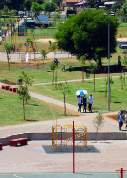 CHILL ZONE: Dorothy Nyembe Park is popular among the youth in Dobsonville and surrounding areas. Photo: Provided