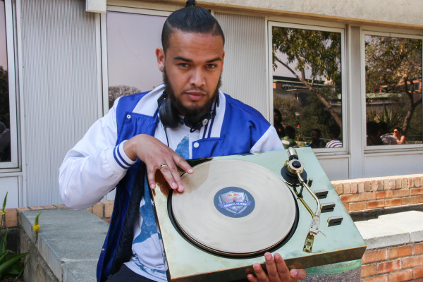 WINNER ON DECKS: Marcel Kleinsmith, a 4th year medical student won the national Red Bull Campus Clash competition in July, which earned him a spot to showcase his skills at the Oppikoppi musical festival last month. Photo: Riante Naidoo.