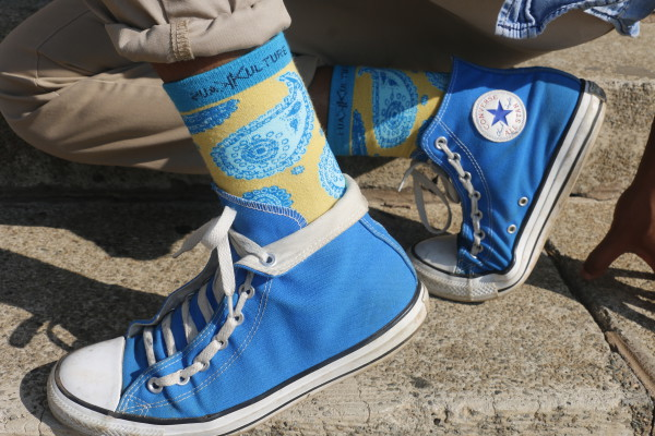 ITS NOT JUST SOCKS: One of the distinct designs by Kaus Kulture.   Photo by Anelisa Tuswa