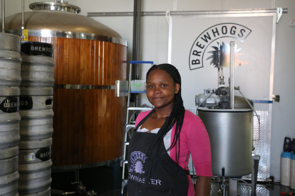 MASTER: Female beer brewers are rare these days but Apiwe Nxusani is a master beer brewer who has her honours in Microbiology. She hope to inspire more black women to enter the male dominated industy. Photo: Samantha Camara