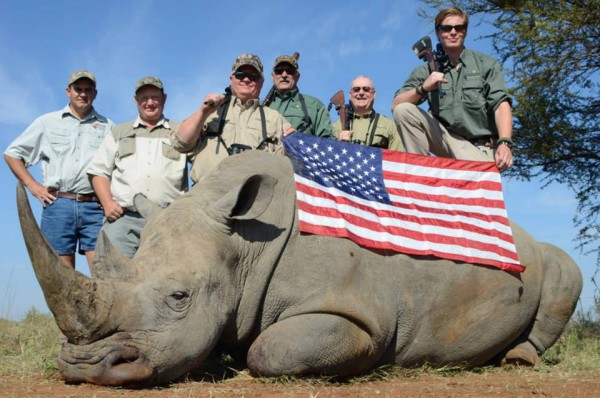 TROPHY OF DEATH: Rhino conservation is expensive and wealthy hunters are willing to fit the bill. Photo: Provided