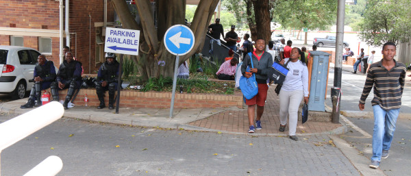THE SHOW GOES ON: Students register at Hall 29 for 2016 despite challenges. Photo: Michelle Gumede