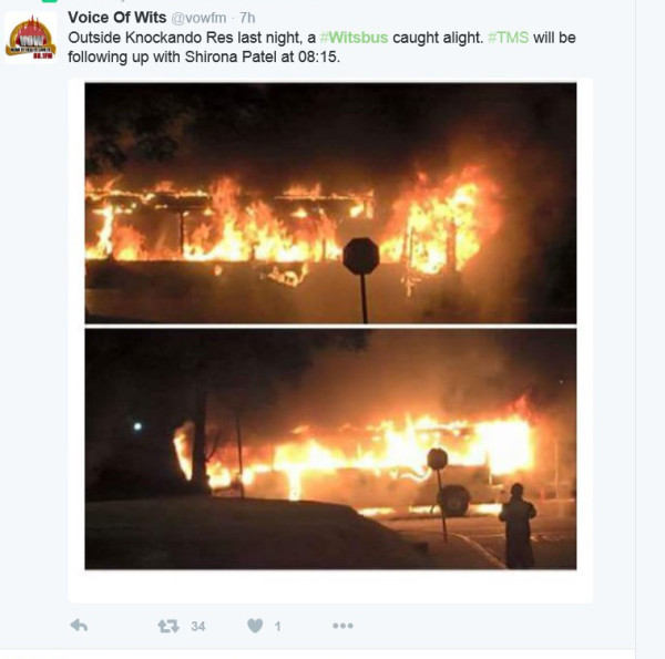 BURNT BEYOND RECOGNITION: VoWfm posted this image on twitter last night. Photo: Screengrab